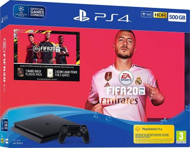 PlayStation 4 Slim 500GB HDR VR Ready + FIFA 20 + bon 30€ (PS4 Slim)