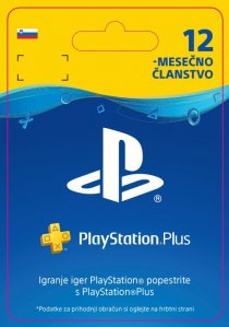 PlayStation Plus PSN+ 365 dni (SLO) za PS4 | PS3 | PS Vita