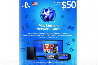 PlayStation Network Card 50 USD (US) | PS4 | PS3