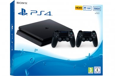 PlayStation 4 Slim 500GB HDR VR Ready + 2x kontroler + PS4 igra + bon 30€ (PS4 Slim)