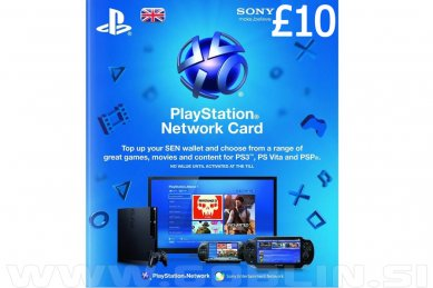 PlayStation Network Card 10 GBP (UK) za PS4 | PS3 | PS Vita