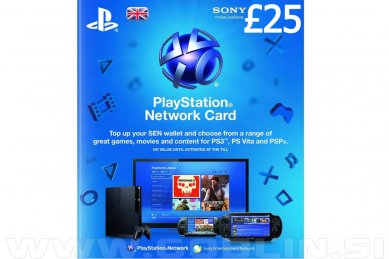 PlayStation Network Card 25 GBP (UK) za PS4 | PS3 | PS Vita
