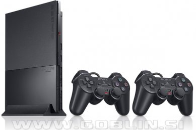 Rabljeno: PlayStation 2 Slim (PS2) + 2x kontroler + PS2 igra + 1 leto garancije