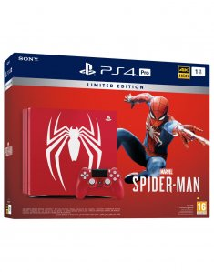 PlayStation 4 Pro Spider Man Limited Edition 1000GB HDR + Spider Man + VR Ready + bon 30€ (PS4 Slim 1TB)