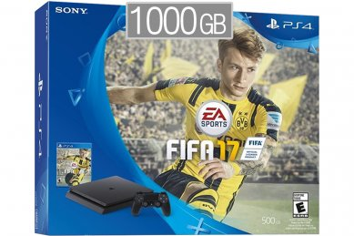 PlayStation 4 Slim 1000GB + FIFA 17 + bon 30€ (PS4 Slim 1TB)