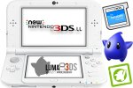 New Nintendo 3DS XL bel + Luma3DS + SD 4GB + napajalnik