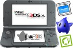 New Nintendo 3DS XL metalno črn + Luma3DS + SD 4GB + napajalnik