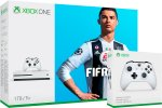 Xbox One Slim 1000GB + FIFA 19 + 2x kontroler + 225 iger + bon 30€