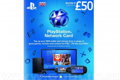 PlayStation Network Card 50 GBP (UK) za PS4 | PS3 | PS Vita