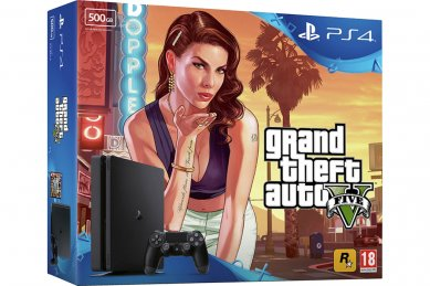 PlayStation 4 Slim 500GB HDR VR Ready + Grand Theft Auto 5 + bon 30€ (PS4 Slim)