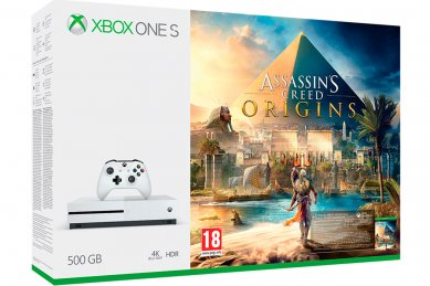 Xbox One Slim 500GB + Assassins Creed Origins + Xbox Live Gold + bon 30€