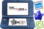 New Nintendo 3DS XL metalno moder + Luma3DS + SD 4GB + napajalnik
