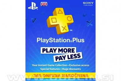 PlayStation Plus PSN+ 365 dni (UK) za PS4 | PS3 | PS Vita