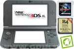 New Nintendo 3DS XL metalno črn + Sky3DS Plus + R4i 3DS Gold + SD 4GB + napajalnik