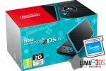 New Nintendo 2DS XL turkizen + Luma3DS + Face Riders + microSD 4GB + napajalnik