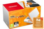 New Nintendo 2DS XL oranžen + R4i Gold v2019 + Face Riders + microSD 4GB + napajalnik