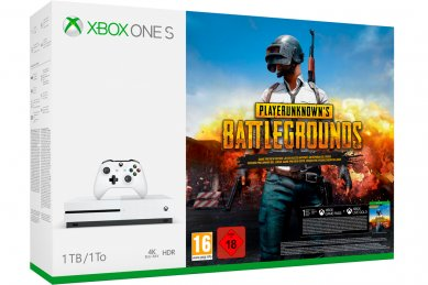 Xbox One Slim 1000GB + Playeruknowns Battlegrounds + 225 iger + Xbox Live Gold + bon 30€