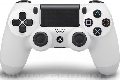 PS4 DualShock 4 brezžični kontroler v2 (2017 model), bel