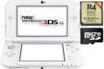 New Nintendo 3DS XL bel + R4i 3DS Gold v2017 + SD 4GB + napajalnik
