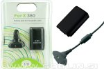 Xbox 360 Play & Charge Kit, črn
