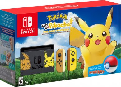 Nintendo Switch + Pokemon Lets Go Eevee Bundle + Fortnite + bon 30€