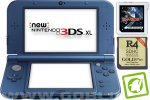 New Nintendo 3DS XL metalno moder + Sky3DS Plus + R4i 3DS Gold + SD 4GB + napajalnik
