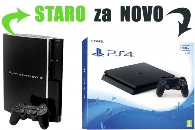 Staro za novo: Tvoj PlayStation 3 za PlayStation 4 Slim 500GB HDR VR Ready + bon 30€ + paysafecard 10€ (PS4)