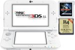 New Nintendo 3DS XL bel + Sky3DS Plus + R4i 3DS Gold + SD 4GB + napajalnik