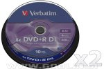 Verbatim DVD+R DL 8X 8,5GB Dual Layer, 20 kom