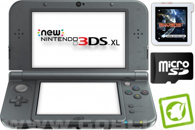 New Nintendo 3DS XL metalno črn + Sky3DS Plus + SD 4GB + napajalnik