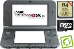 New Nintendo 3DS XL metalno črn + R4i 3DS Gold v2017 + SD 4GB + napajalnik