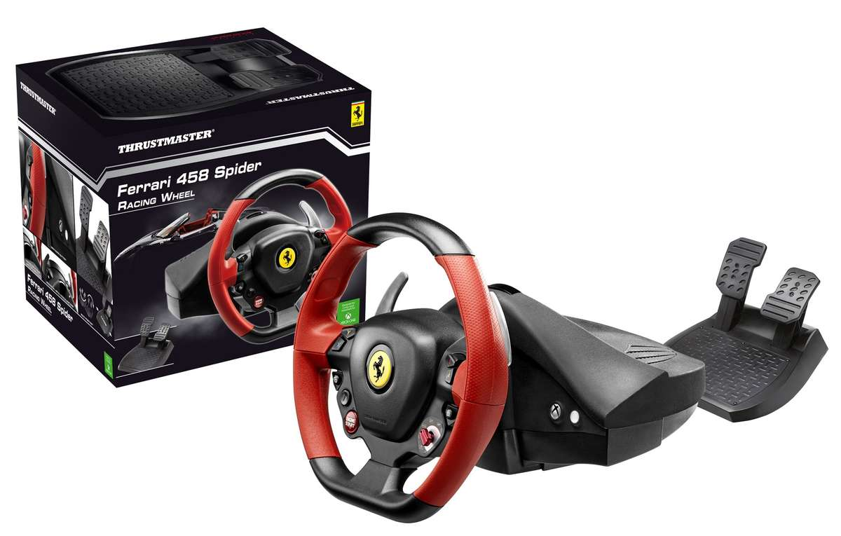 thrustmaster ferrari 458 spider racing wheel xbox one. Black Bedroom Furniture Sets. Home Design Ideas