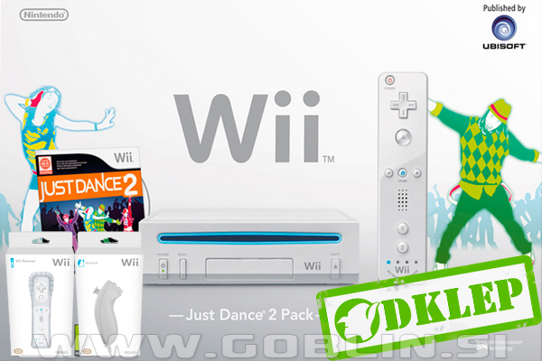 Igralna konzola Nintendo Wii bel + USB Loader GX + 2x