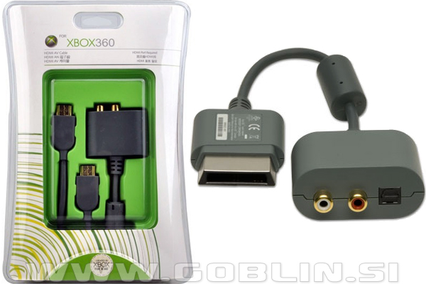 Xbox 360 audio adapter + HDMI kabel : Igralne konzole | Xbox